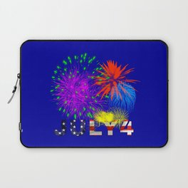 America 4th of July Fireworks Laptop Sleeve