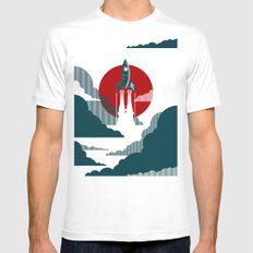 The Voyage White Mens Fitted Tee MEDIUM