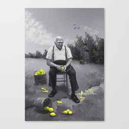Lemon Man Canvas Print
