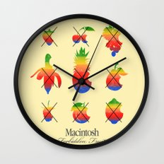 mac forbidden fruits Wall Clock