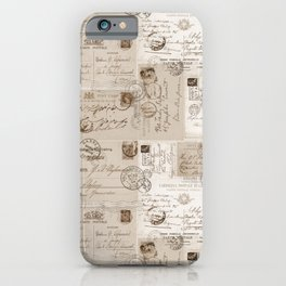 Old Letters Vintage Collage iPhone Case
