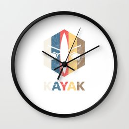 Retro Kayak Water Sports Sailboat Kayaker  Wall Clock