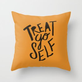 Halloween Treat Yo Self Throw Pillow
