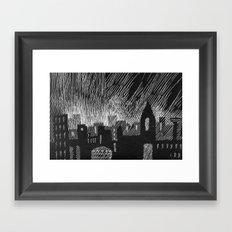 black city Framed Art Print