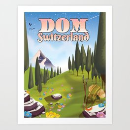 Dom Switzerland Landscape poster. Art Print