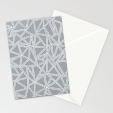 Shattered Ab Grey and White  Stationery Cards