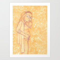 Food-Baby Art Print