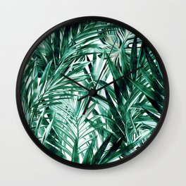 Botanical Green Wall Clock