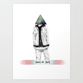 fancy as fuck Art Print