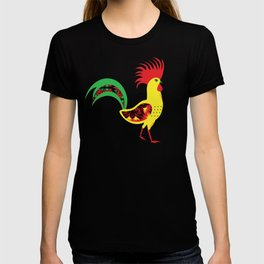 Colourful rooster T-shirt