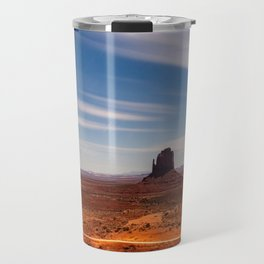 Bright Night at Monument Valley Travel Mug