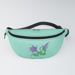 fantasy, dragon, green, violett, drawing, bebicervin Fanny Pack