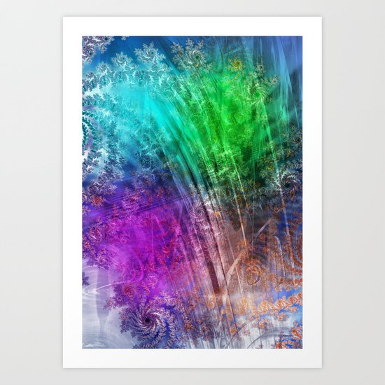 floatin through the love heaven Art Print