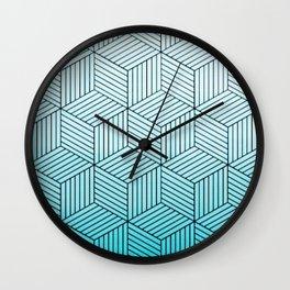 Cubism Teal Wall Clock