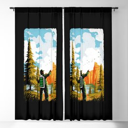 Hiking Recharging In Nature Outdoor Battery Blackout Curtain