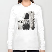 coca cola Long Sleeve T-shirts featuring Coca-Cola closer by Vorona Photography