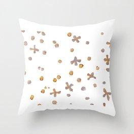 Dots & Crosses Throw Pillow