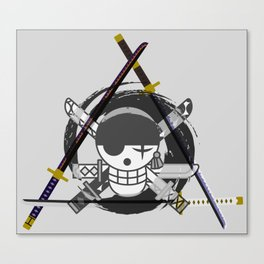 Zoro's Katanas - One Piece Canvas Print