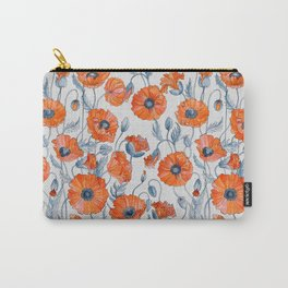 Poppies botanical art Carry-All Pouch