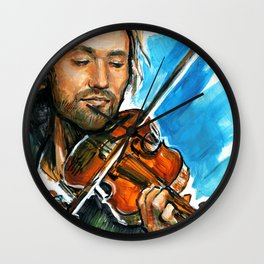 violinist plays music #3 Wall Clock