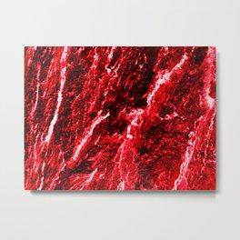 Red Bark Metal Print