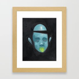Bored and Blue Framed Art Print
