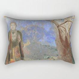 "Odilon Redon ""The Buddha"" Rectangular Pillow"