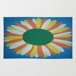 Colorful Sunflower Rug