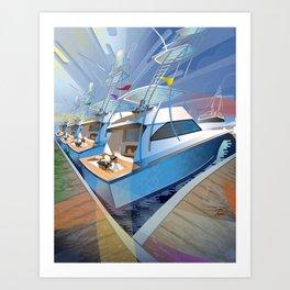 Sportfishing Boats Art Print