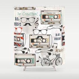 Hipster design pattern Shower Curtain