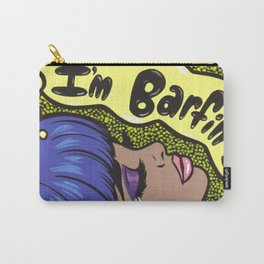 """I'm Barfing"" Sad Comic Girl Carry-All Pouch"