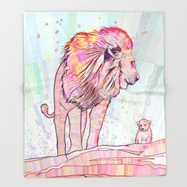 Father and Son Throw Blanket