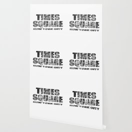 Times Square New York City (B&W photo filled flat type) Wallpaper