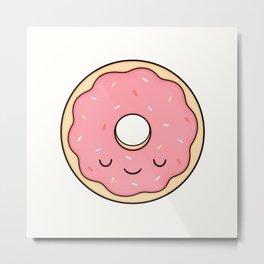 Donut - Pink Sprinkles Metal Print