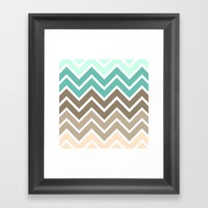 BEACHY CHEVRON Framed Art Print