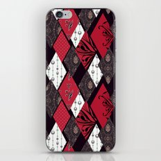 Black-red patchwork . iPhone & iPod Skin