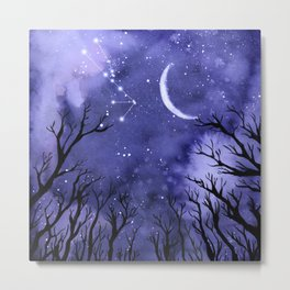 Starry Night and Moon #3 Metal Print
