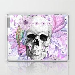 Purple Floral Boho Hippie Skull Laptop & iPad Skin