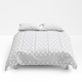 Kitchen Spoon Silhouette Comforters
