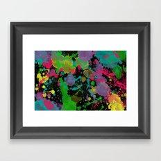 Paint Splatter on Black Background Framed Art Print