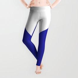Chevron (Navy Blue & White) Leggings