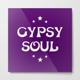 Gypsy Soul Mystical Stars Purple Metal Print