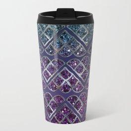 Purple Aqua MERMAID Glitter Scales Dream #1 #shiny #decor #art #society6 Travel Mug