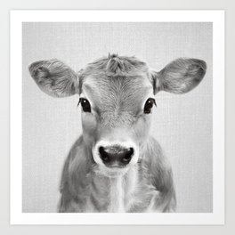 Calf - Black & White Art Print