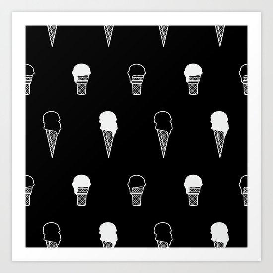 Ice Cream (inverse) Art Print
