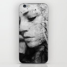Another World - surreal dreamy portrait, woman nature photo, tree nature portrait iPhone Skin