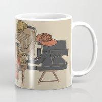 poker Mugs featuring Polaroid Poker by Romayne Robinson