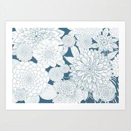 Blue Sketchbook Art Print