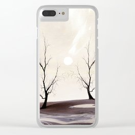 Watercolor Trees 15 Clear iPhone Case