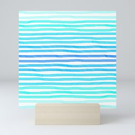 Can't get enough of Blue Stripes ! Mini Art Print